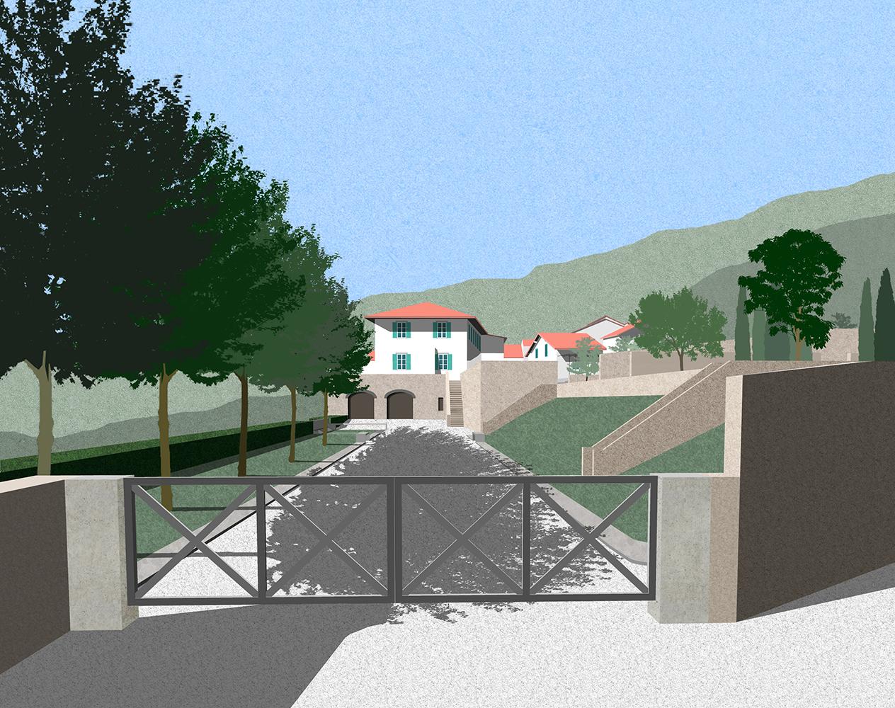 Grecciola vineyard exterior landscape collage