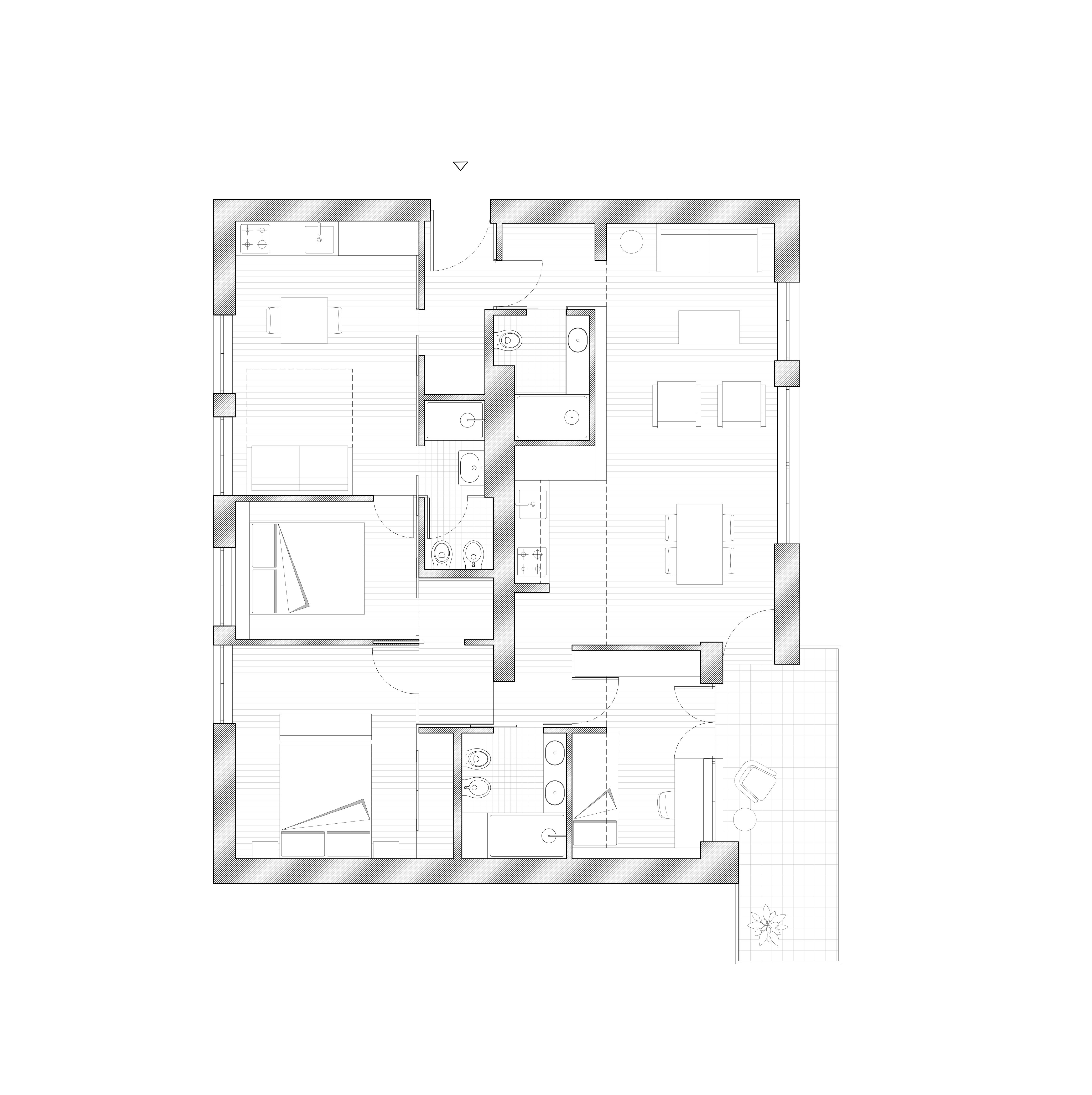 Canazei apartment redesigned plan