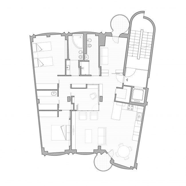 Cinisello apartment proposed plan