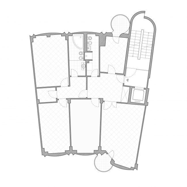 Cinisello apartment existing plan